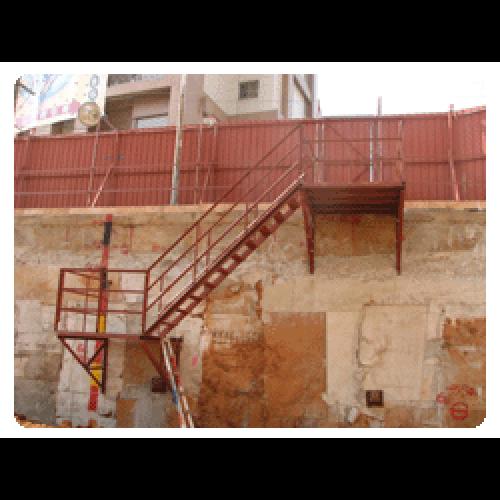 地下室開挖臨時施工便梯